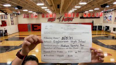 Eaglecrest High School [Medium Varsity - Pom Virtual Prelims] 2021 NDA High School National Championship