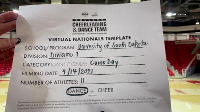 University of South Dakota [Virtual Division I Game Day - Dance Semi Finals] 2021 UCA & UDA College Cheerleading & Dance Team National Championship
