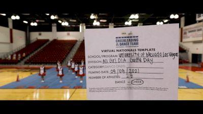 University of Nevada- Las Vegas [Virtual All Girl Division IA Game Day Semi Finals] 2021 UCA & UDA College Cheerleading & Dance Team National Championship