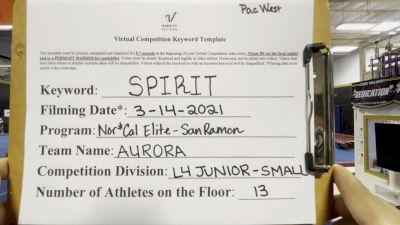 Nor Cal Elite All Stars - San Ramon - Aurora [L4 Junior - Small] 2021 PacWest Virtual Championship