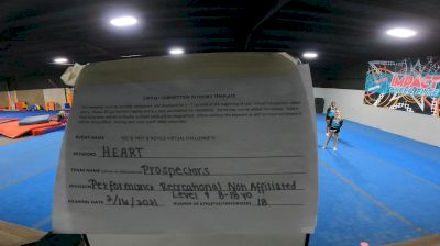 Impact Cheer Elite - Pros [L4 Performance Recreation - 8-18 Years Old (NON)] 2021 Varsity Recreational Virtual Challenge III