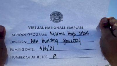 Marina High School [Virtual Game Day Varsity Non-Building Semi Finals] 2021 UCA National High School Cheerleading Championship