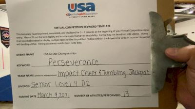 Impact Cheer & Tumbling - Jackpot [Senior Level 4-D2] 2021 USA All Star Virtual Championships