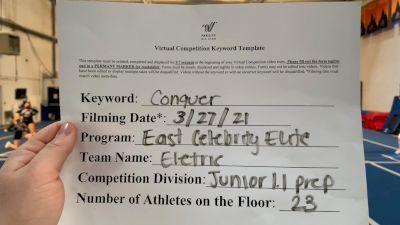 East Celebrity Elite - Electric [L1.1 Junior - PREP] 2021 Varsity All Star Winter Virtual Competition Series: Event V