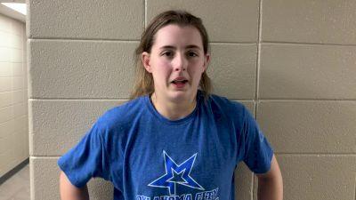 Rachel Watters after winning the 155 pound WCWA Championship
