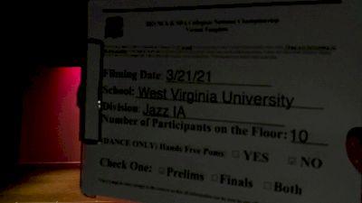 West Virginia University [Jazz Division IA Virtual Prelims] 2021 NCA & NDA Collegiate Cheer & Dance Championship