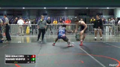 182 Quarter-Finals - Nino Bonaccorsi, PA vs Khamari Whimper, TN