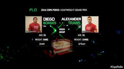 Alexander Trans vs Diego Borges Copa Podio 2016 Heavyweight Grand Prix