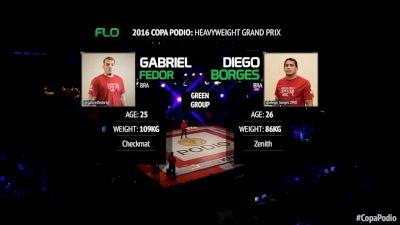 Diego Borges vs Gabriel Lucas Copa Podio 2016 Heavyweight Grand Prix