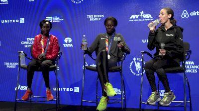 NYC Marathon women's podium press conference part 1