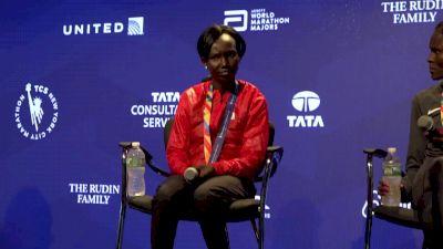 NYC Marathon women's podium press conference part 2