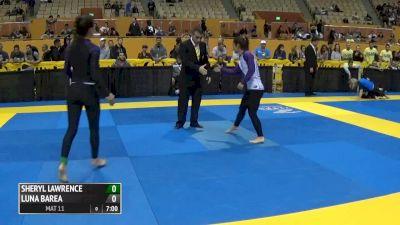 Sheryl Lawrence vs Luna Barea 2016 IBJJF No-Gi World Championships