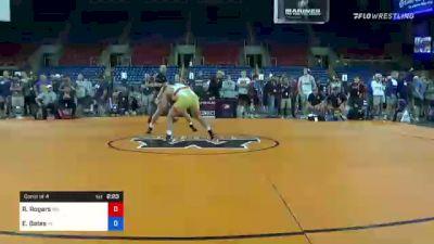 195 lbs Consi Of 4 - Rylan Rogers, Washington vs Evan Bates, Indiana
