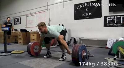 Wes Kitts Snatches Unofficial American Record 174kg In Training
