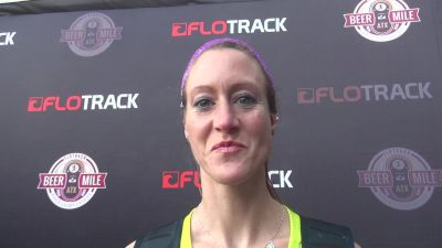 Allie Morgan leaves beer mile with a fire for more