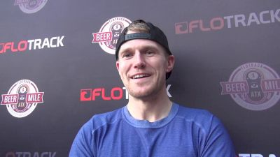Corey Gallagher after fighting through injury in beer mile
