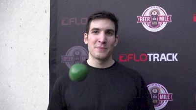 Adam Merritt broke the beer mile juggling world record