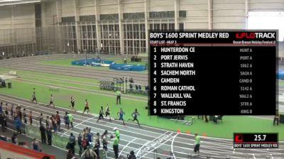 Boy's Sprint Medley Relay Red, Round 1 Heat 3