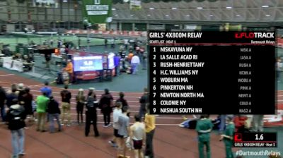 Girl's 4x800m Relay, Round 1 Heat 1