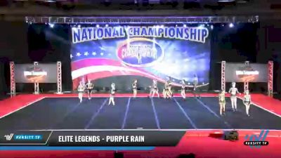Elite Legends - Purple Rain [2021 L4 Senior Coed - D2 Day 2] 2021 ACP: Midwest World Bid National Championship