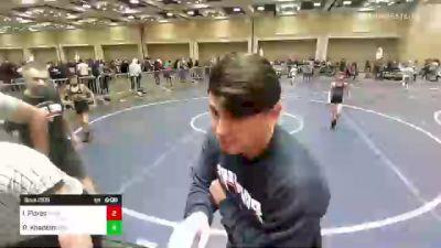 61 lbs Quarterfinal - Isaiah Flores, Pounders WC vs Reza Khademi, Daniel Cormier Wr Ac
