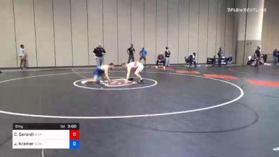 61 kg Consolation - Collin Gerardi, Southeast Regional Training Center, Inc vs Josh Kramer, Sunkist Kids Wrestling Club