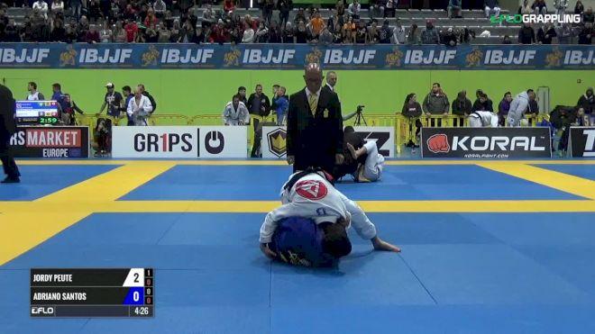 Jordy Peute vs Adriano Santos IBJJF 2017 European Championships