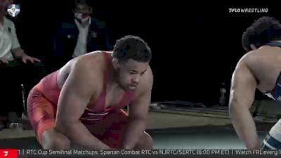 125 kg 3rd Place - Dom Bradley, Spartan Combat RTC vs Michael Macchiavello, Wolfpack RTC