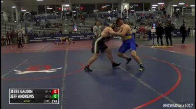 285 5th Place - Jesse Gaudin, #6 Central Florida vs Jeff Andrews, #9 Alfred State