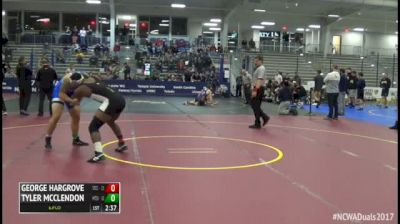 235 7th Place - George Hargrove, #7 Springfield Tech vs Tyler McClendon, #5 Middle Tennessee