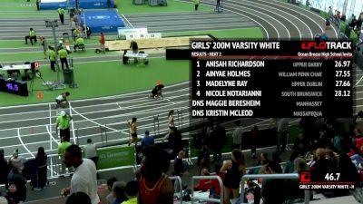 High School Girl's 200m, Heat 3 - Varsity White