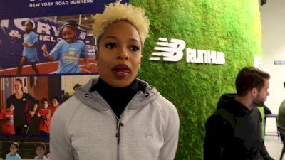 Natasha Hastings on possible 300m American record, Sydney McLaughlin