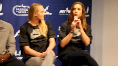 Ekaterini Stefanidi, Sandi Morris on post-Olympic celebration