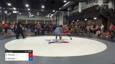 74 kg Quarterfinal - Alex Facundo, Team Donahoe vs Sonny Santiago, Tar Heel Wrestling Club