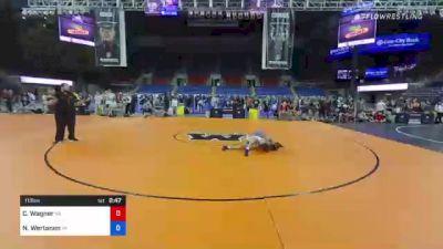 113 lbs Consi Of 8 #2 - Carson Wagner, Pennsylvania vs Nolan Wertanen, Michigan