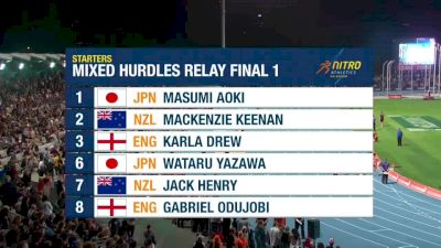Mixed Shuttle Hurdle Relay, Final