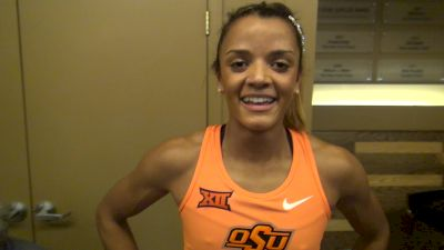 Kaela Edwards after an NCAA top 10 mile all-time, wanted the NCAA record
