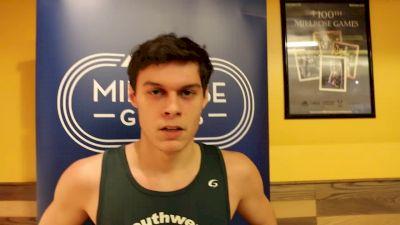 Cameron Haught took third in men's racewalk