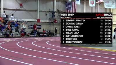 Strymar Livingston executed the perfect race to win the Big 12 800m title