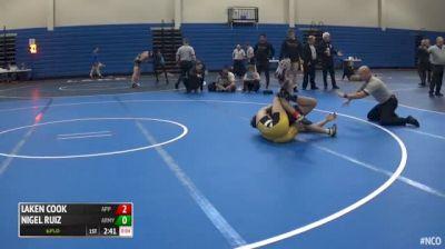 157 3rd Place - Laken Cook, Appalachian State vs Nigel Ruiz, Army West Point