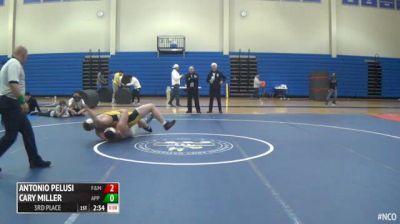 285 3rd Place - Antonio Pelusi, Franklin & Marshall vs Cary Miller, Appalachian State