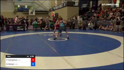 74 kg Rr Rnd 2 - Philip Conigliaro, Unattached vs Brady Berge, Nittany Lion Wrestling Club
