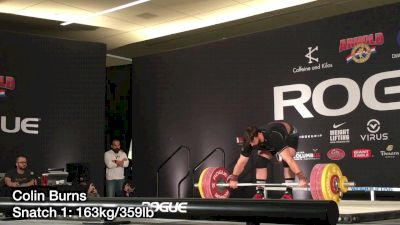 Colin Burns Snatches 170kg, Clean & Jerks 190kg at The 2017 Arnold