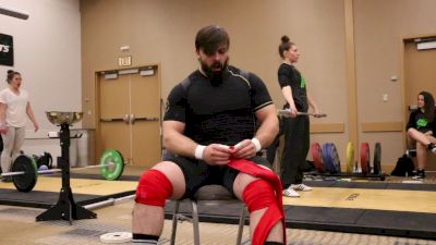 Colin Burns Squats 225kg For 5 After The 2017 Arnold Weightlifting Championships