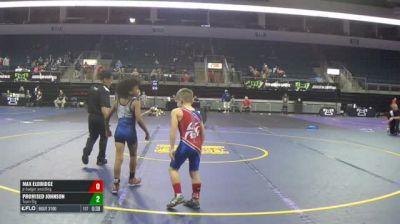 66 RR Rnd 5 - Max Eldridge, Jr Badger Wrestling vs Promised Johnson, Team Big