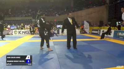 Juan Carlos Gomez vs Brandon Woodly Walensky IBJJF 2017 Pan Jiu-Jitsu Championship