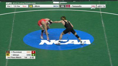 125 3rd, Thomas Gilman (Iowa) vs. Nicholas Piccininni (Oklahoma St.)