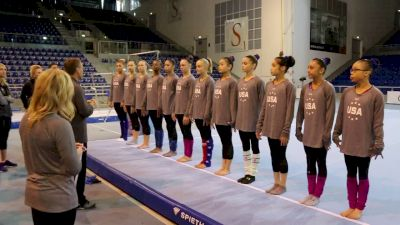 Full USA National Team Warmup - Training Day 1, 2017 Jesolo Trophy