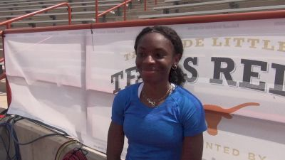 Courtney Okolo admits she's a perfectionist and says she wants to run 49s consistently