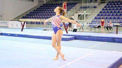 Abby Paulson Floor Routine - Training Day 1, 2017 Jesolo Trophy